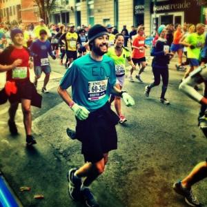 Ed running in Williamsburg